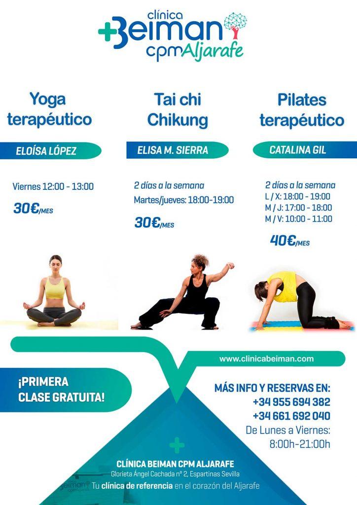 Taichi, yoga y pilates en Espartinas (Sevilla)
