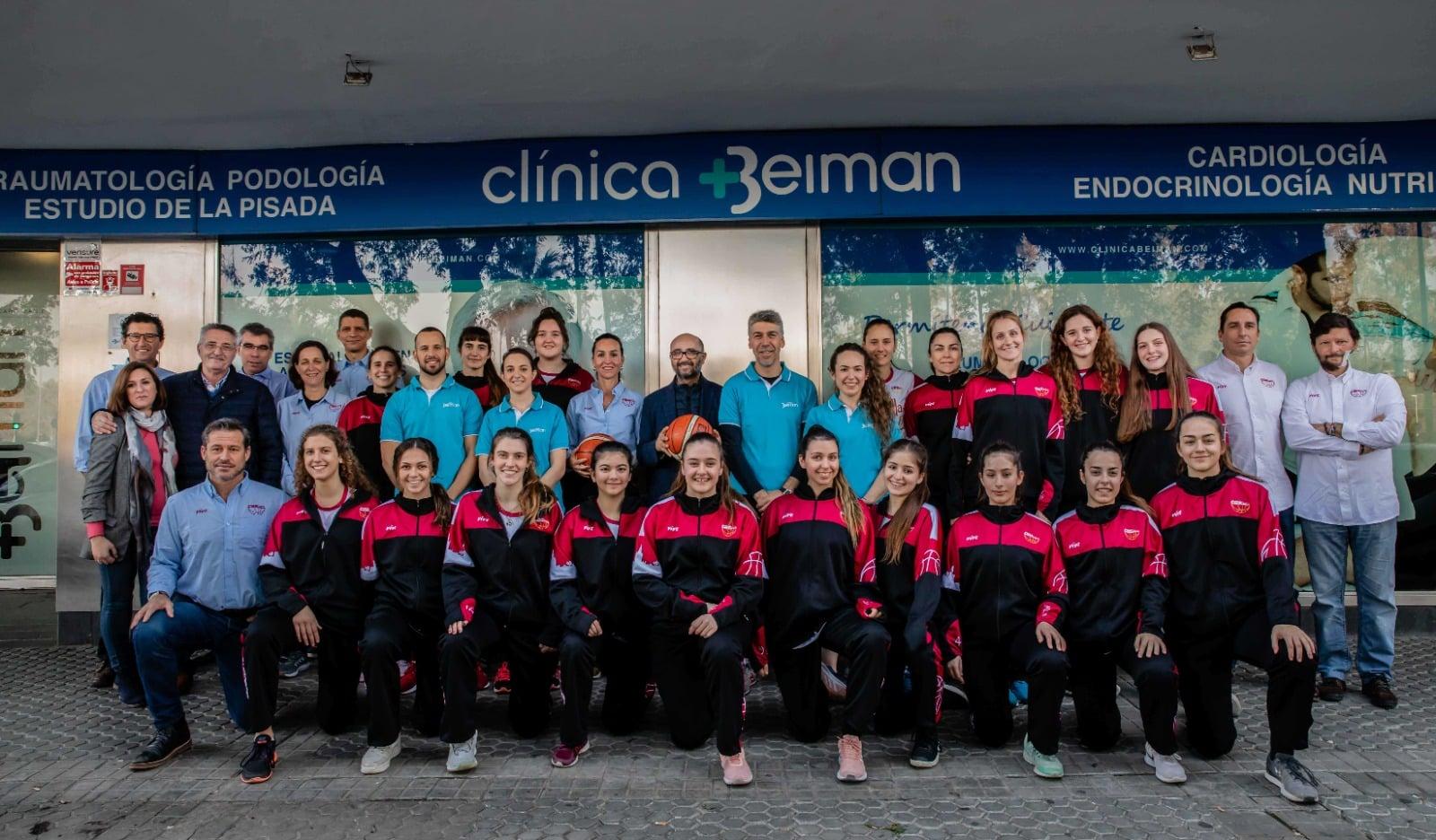 Club Baloncesto Sevilla Femenino y Clínicas Beiman